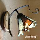 ブラケットライト ステンドグラス【Macaron Mint・マカロン ミント】 LED対応 スイーツ 壁掛け照明 ブラケット照明 ステンドグラス ランプ