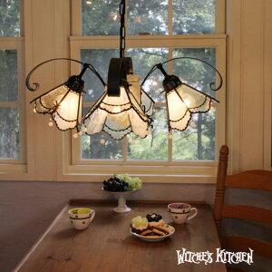 ★ ハニー Honey ★ ステンドグラス シャンデリア 4灯 | 天井照明 ランプ LED対応