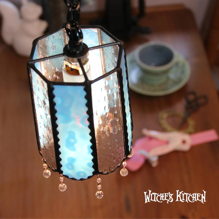 ペンダントライト ガラス 【Mercury・マーキュリー】 LED対応 ブルー ステンドグラス ランプ ペンダントライト ガラス