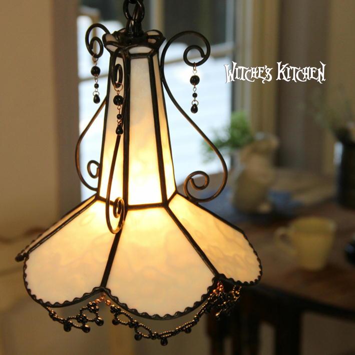 ペンダントライト 【Sicil Milk・ シシルMilk】 LED対応 エレガント ステンドグラス ランプ