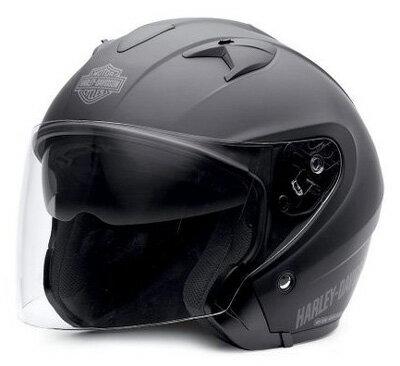 ハーレーダビッドソン Harley DavidsonヘルメットHarley-Davidson Men's 3/4 Helmet with Retractable Sun Shield マットブラック 新作 ハーレー純正 正規品 アメリカ買付 USA直輸入 通販
