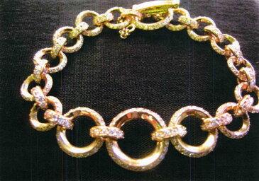 Chrome Hearts クロムハーツ ブレスレットダイヤモンド装飾 22金YG製 CH オーリング ブレスレット本物 正規品 アメリカ買付 USA直輸入