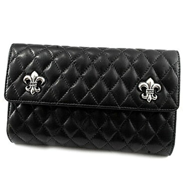 【Chrome Hearts】クロムハーツ 財布 ウォレットウェーブ#4 キルテッド 3スナップ BSフレア モチーフWAVE#4 QUILTED 3SNAP BS FLARE本物 正規品 アメリカ買付 USA直輸入