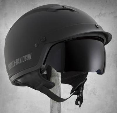 ハーレーダビッドソン Harley Davidsonハーフ ヘルメットMen's Drive 1/2 Helmet with Shield マットブラック新作 ハーレー純正 正規品 アメリカ買付 USA直輸入 通販