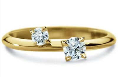 ディアマ DIAMAインティメート リング INTIMATE RING (0.27ct tw)SWAROVSKI スワロフスキークリエイティブダイヤモンド使用 18金イエローゴールド製:Wit@USA
