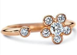 ディアマDIAMAブルームリングBLOOMRING(0.30cttw)SWAROVSKIスワロフスキークリエイティブダイヤモンド使用18金ローズゴールド製