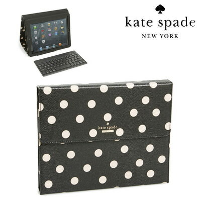 ケイトスペード Kate Spade iPadケースcedar street dot iPad keyboard case (Black/DecoBeige)シ...