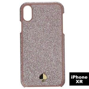 ケイトスペード iPhoneケース Kate Spade Glitter Inlay Phone Case for iPhone XR (ROSE GOLD) アイフォン ケース グリッター インレイ - XR (ローズゴールド) 新作 正規品 アメリカ買付 レディース iPhoneXR