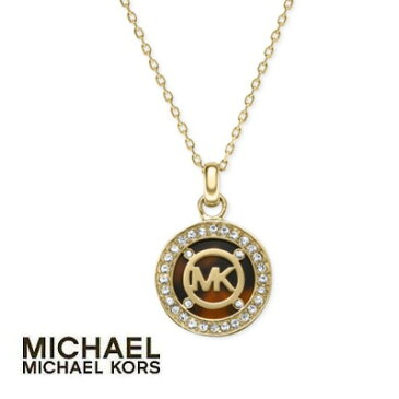 マイケル マイケルコース ネックレスGold-Tone Tortoise Logo Pendant Necklaceロゴ ペンダント ネックレス (トータス)Michael Michael Kors Crystal Logo Pendant Necklace新作 正規品 アメリカ買付 レディース