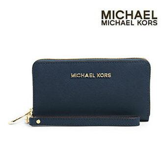 Michael Kors 智慧手機錢包噴氣機旅行大電話的腕帶 (海軍) 噴氣機旅行大錢包 (海軍) Michael Michael Kors Michael Michael Kors 新真正女性的智慧手機 iPhone 案例