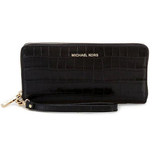 財布・ケース, レディース財布  32F7GF6E4E Michael Michael Kors Travel Crocodile-Embossed-Leather Continental Wristlet (Black) JET SET - ()