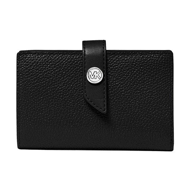 マイケルコース二つ折り財布32S0G00E2L1MichaelMichaelKors●CharmMediumTabWallet(Black)MKCHARMミディアムタブウォレット財布(ブラック)新作正規品アメリカ買付レディース