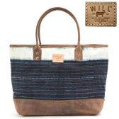 ウィルレザーグッズ Will Leather Goods トートバッグIndigo Batik Cotton Canvas Tote(AssortedIndigo)インディゴ バチック コットン キャンバス トート(インディゴ) 新作 正規品 アメリカ買付 USA直輸入