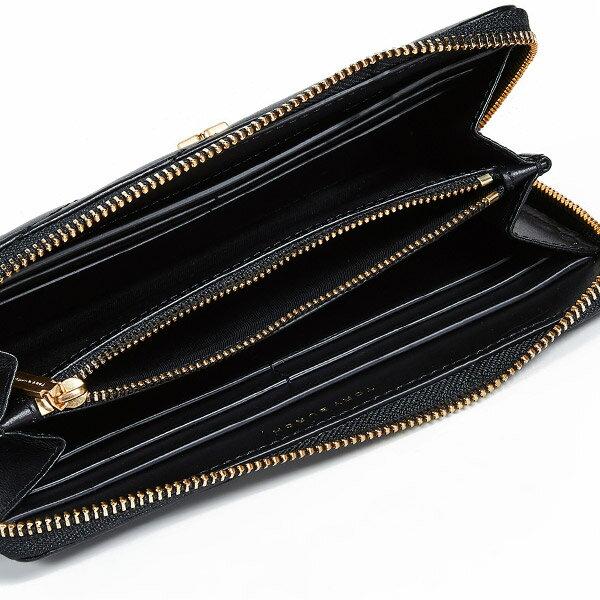 トリーバーチ長財布ToryBurch56605●KIRACHEVRONZIPCONTINENTALWALLET(BLACK)キラシェブロンジップウォレット財布(ブラック)新作正規品レディース財布レザー