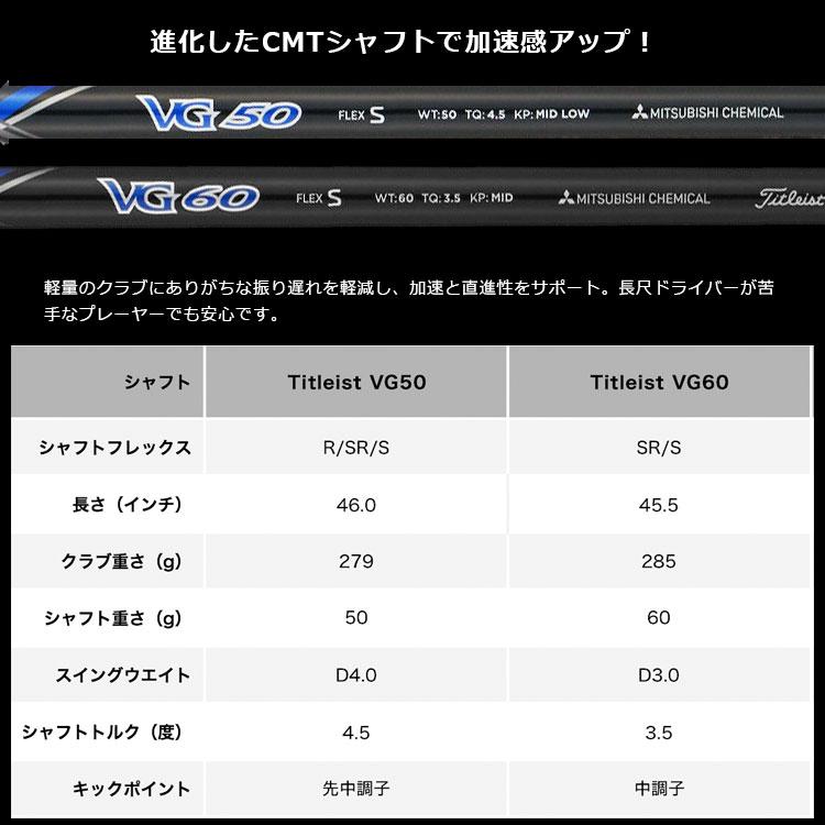 【メーカーカスタム】Titleist タイトリスト VG3 2017モデル ドライバー Titleist VG50 カーボンシャフト