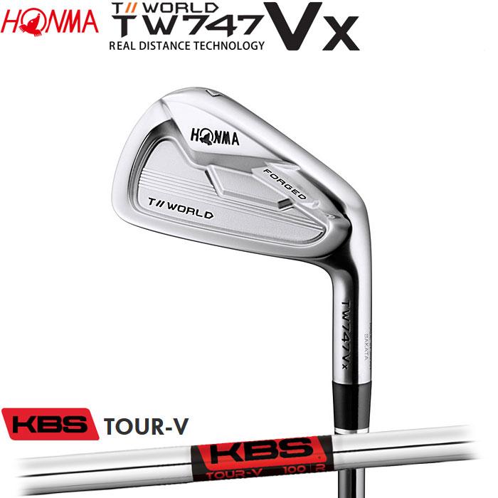 ホンマゴルフ HONMA TOUR WORLD TW747 VX アイアン KBS TOUR-V 5~10 (6本セット)