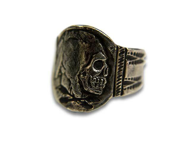 "【CHOOKE/チョーク】""Indian Skull Ring-M/インディアンスカルリング-M""(C-2)【送料・代引き手数料無料】【あす楽対応】(オールドコイン/アンティークコイン/ヴィンテージコイン/ネイティブアクセサリー)"