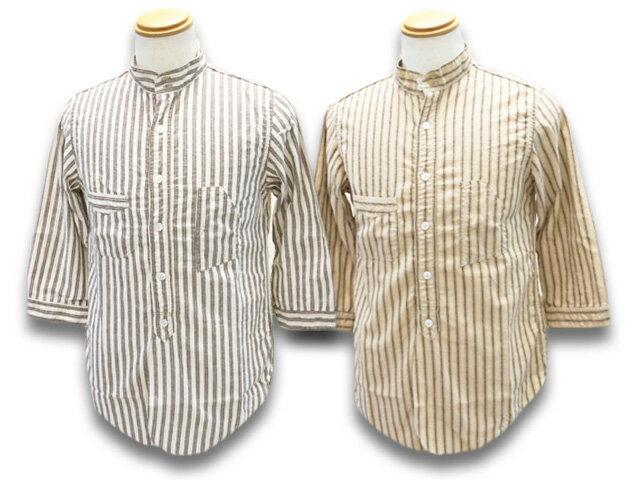 トップス, カジュアルシャツ 2FREE WHEELERS2020SFThree Quarter Sleeve 1920s Style Work ShirtsTHE SKIPPER1920s (2023011)()