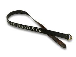 """全2色【GLAD HAND/グラッドハンド】「Letter Double Ring Belt""""GLAD HAND CO.""""/レターダブルリングベルト""""GLAD HAND CO.""""」【送料・代引き手数料無料】【あす楽対応】(GANGSTERVILLE/ギャングスタービル/WEIRDO/ウィアード/HTC)"""