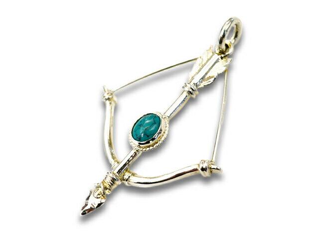 メンズジュエリー・アクセサリー, ネックレス・ペンダント FIRST ARROWsMedium Bow First Arrow with Turquoise(P-218)()