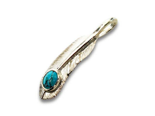 メンズジュエリー・アクセサリー, ネックレス・ペンダント FIRST ARROWsSmall Feather with TurquoiseRight(P-006R)()