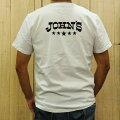 ジョンズクロージングTシャツ白JOHN'SCLOTHINGファイブスターLOGOT-SHIRT正規取扱店