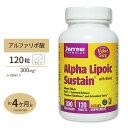 アルファリポ酸 300mg 120粒サプリメント サプリ αリポ酸 ビオチン タブレット Jarrow Formulas ジャロー
