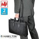 [ハミルトン] ビジネスバッグ リクルートバッグ ブリーフケース 就活 面接 メンズ 39cm 2way A4ファイルが収納できる余裕の大きさ 資料入りの封筒も入る #26581 [HAMILTON / 鞄倶楽部 平野株式会社] 黒 1