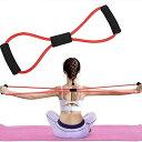 マルチチューブ エクササイズチューブ トレーニング 8の字タイプ 弾性 ゴムチューブ 姿勢改善 肩こり防止 ストレス消解 ダイエット ストレッチ ヨガ 16tt03