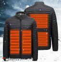 電熱ジャケット 防寒ジャケット ヒートジャケット ホット USB加熱ウェア 3段温度調整 バイク 釣り キャンプ ゴルフ スキー 水洗い可 【商品番号:11jk01】