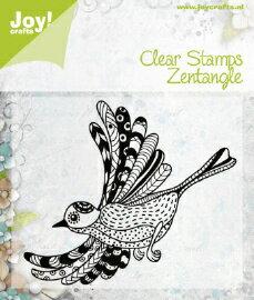 6410-0346/ジョイ・クラフツ/クリアスタンプ/Zentangle bird