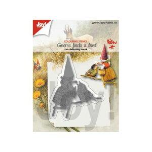【6002-1371】/ジョイ・クラフツ/ダイ(抜型)/Gnome with a bird 小人 と 鳥
