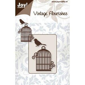6003-0034/ジョイ・クラフツ/ダイ(抜型)/Bird cage and bird 鳥かごと小鳥