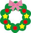 【N42-067】WonderHouse/ワンダーハウス/ダイ/christmas wreath クリスマスリース スクラップブッキング ダイカット ペーパー クラフト ハンドメイド カード作り アルバム作り