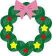 【N50-098】WonderHouse/ワンダーハウス/ダイ/christmas wreath クリスマスリース スクラップブッキング ダイカット ペーパー クラフト ハンドメイド カード作り アルバム作り