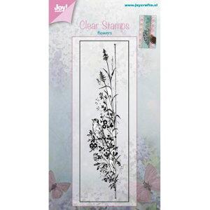 6410-0381/ジョイ・クラフツ/クリアスタンプ/Flower with bird