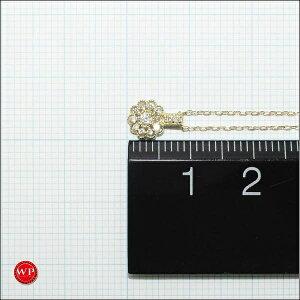 ★送料無料★【新品同様】K1818金YGイエローゴールドネックレスダイヤ0.09ジュエリー【】【取寄後発送】