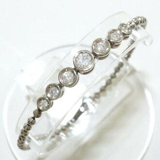 PT850 白金手鏈鑽石 0.50 報告二手飾品 ★ ★