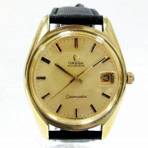 オメガ シーマスター 時計 腕時計 メンズ 自動巻き ゴールド文字盤 ★送料無料★【中古】【あす楽】