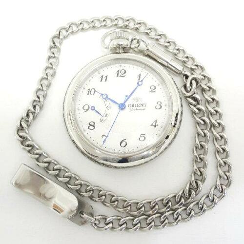 時計 オリエント 懐中時計 手巻き シルバー DD00-C1-B ★送料無料★