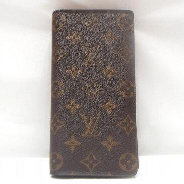 ルイヴィトン Louis Vuitton モノグラム ポルトフォイユ ブラザ M66540 財布 長財布 メンズ ★送料無料★【中古】【あす楽】