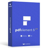 永久ライセンス Wondershare PDFelement 6 Pro(Win版)PDF編集ソフト OCR PDF変換 PDF作成 All-in-oneのPDF万能ソフト PDFをエクセルに変換 pdf word 変換 pdf excel 変換 PDFをワードに変換 Windows10対応|ワンダーシェアー