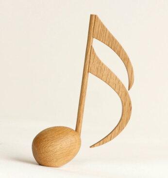 木製文具 木の文鎮メロディウェイト16分音符 ナラ