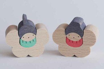 木製ひな 組木ひな人形 節句 小黒三郎椿の花びな(小) 返品・交換不可商品です。