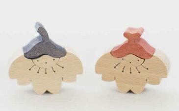 木製ひな 組木ひな人形 節句 小黒三郎桜の花びな(小) 返品・交換不可商品です。