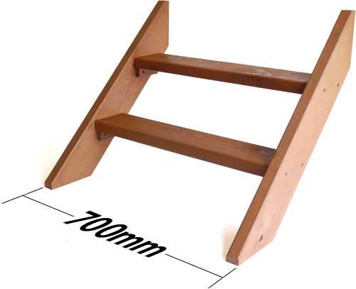 ウッドデッキ用階段 【日本製】 キットデッキミニ専用階段の写真