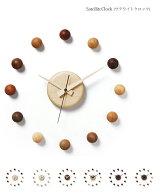 壁掛け時計木製【壁掛け時計サテライトクロック】ドリィーミーパーソン旭川クラフト