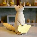 木彫り きつね まちぼうけ きたきつね うぃるびぃ工房 北海道 旭川クラフト