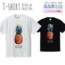 パイナップル Tシャツ メンズ サイズ S M L LL XL 半袖 綿 100% よれない 透けない 長持ち プリントtシャツ コットン ギフト 人気 流行 ゆったり 5.6オンス ハイクオリティー