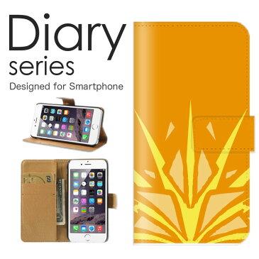 Galaxy S6 edge 手帳 ケース SC-04G 手帳型ケース galaxys6edge 手帳型 カバー オススメ ギャラクシーs6エッジ スマホケース スマホカバー docomo スウィート デザイン 壁紙 革 調 壁紙 人気柄 レザー エジプト メソポタミア 文明 オレンジ 橙 絵文字 記号 (ML)